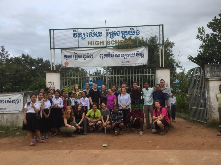 Our students visiting the school in 2017