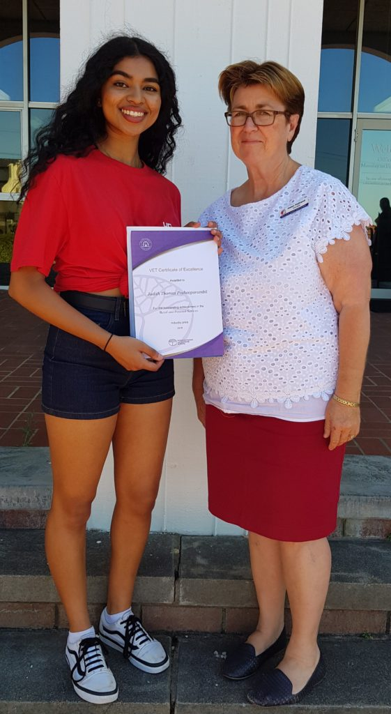 Judith Pazhooparambil with Mrs Maitland