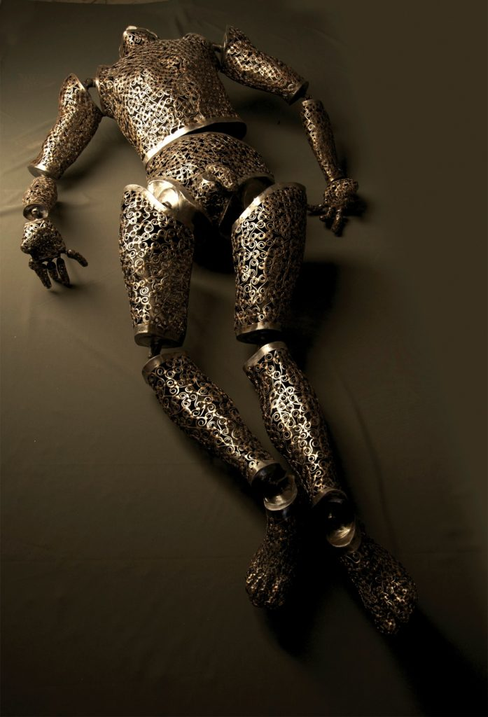 CORPUS.- Lifesize Figurative sculpture Metal and mixed media