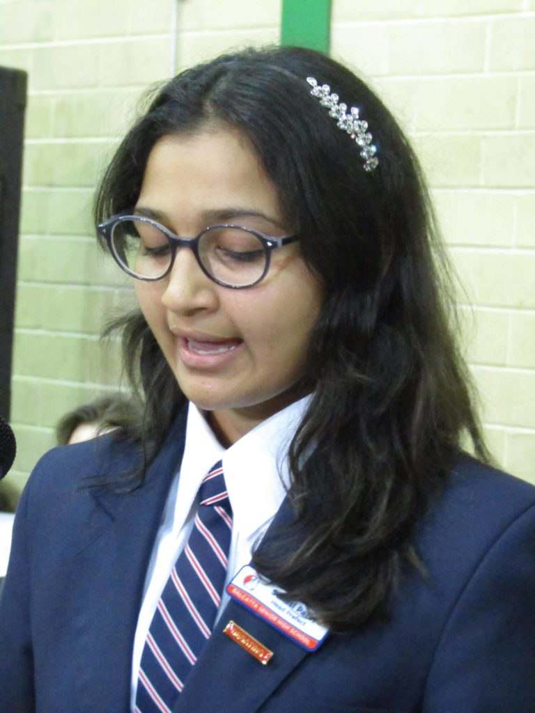 Suhasi Patel, Head Prefect