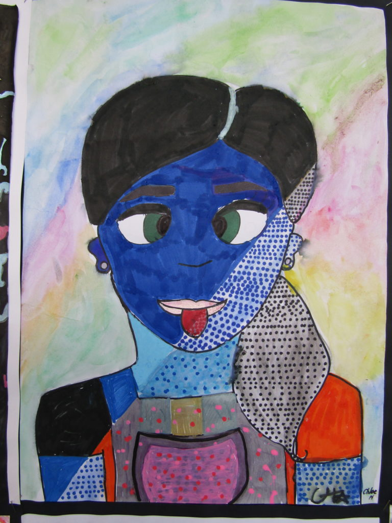 Artwork by Chloe Holman, Year 6 West Balcatta PS - Principal's Merit Award