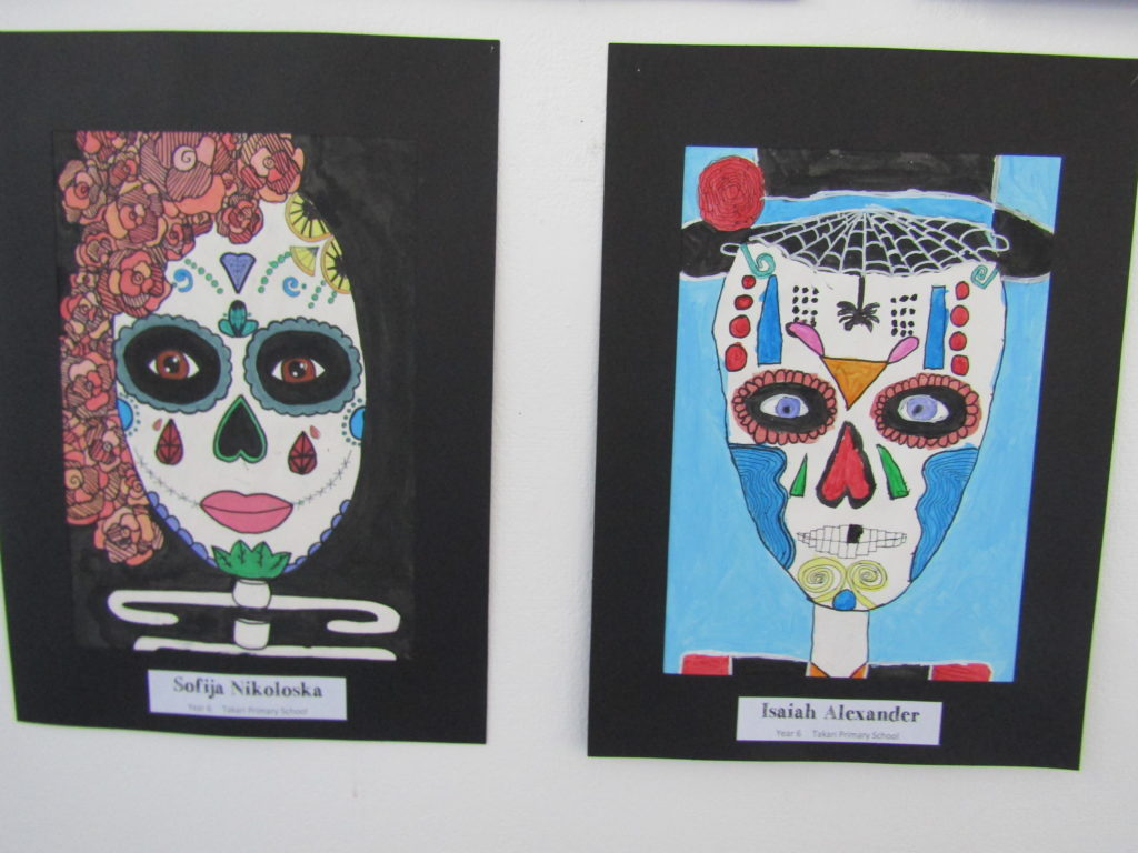 Artwork by Sofija Nikoloska - Certificate of Excellence and Isaiah Alexander - Certificate of Merit, Year 6 Takari PS