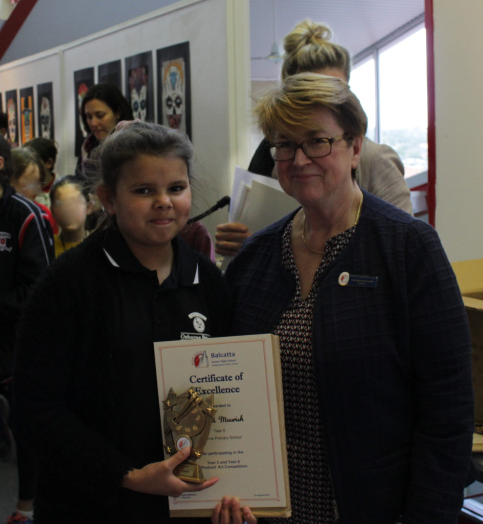 Certificate of Excellence - Dashanti Mourish, Year 6 Osborne PS