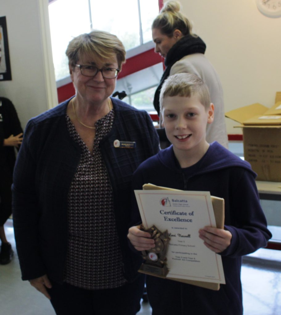 Certificate of Excellence - Levi Newell, Year 5 Balcatta PS