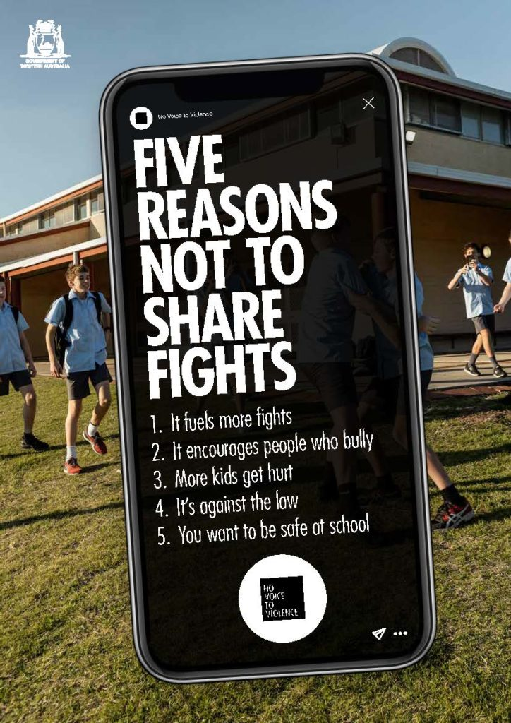 A4 Poster - Five reasons not to share