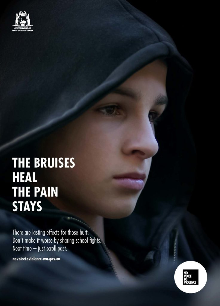 A4 Poster - The bruises heal, the pain stays
