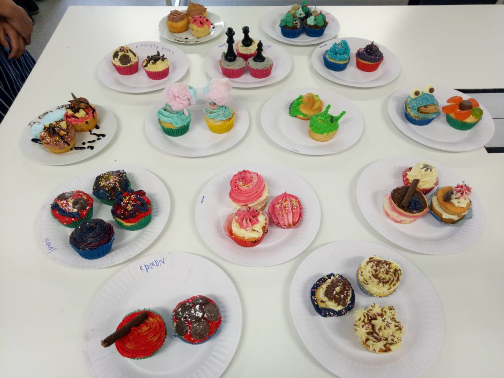 Cupcake creations by Year 10 Cafe Foods class
