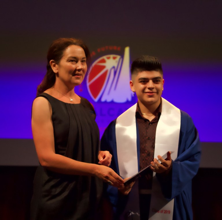 Christian Rodriguez Rivera receiving Cert II in Music Top Student Award