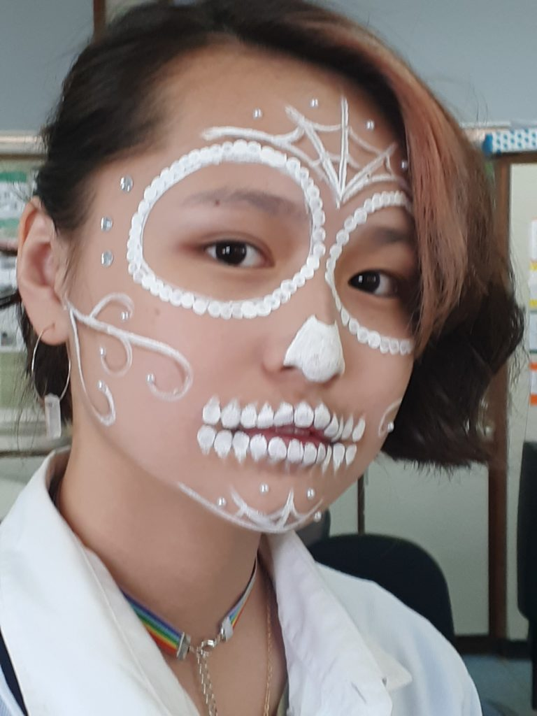 "Qingying Li - ""Day of the Dead"" look"
