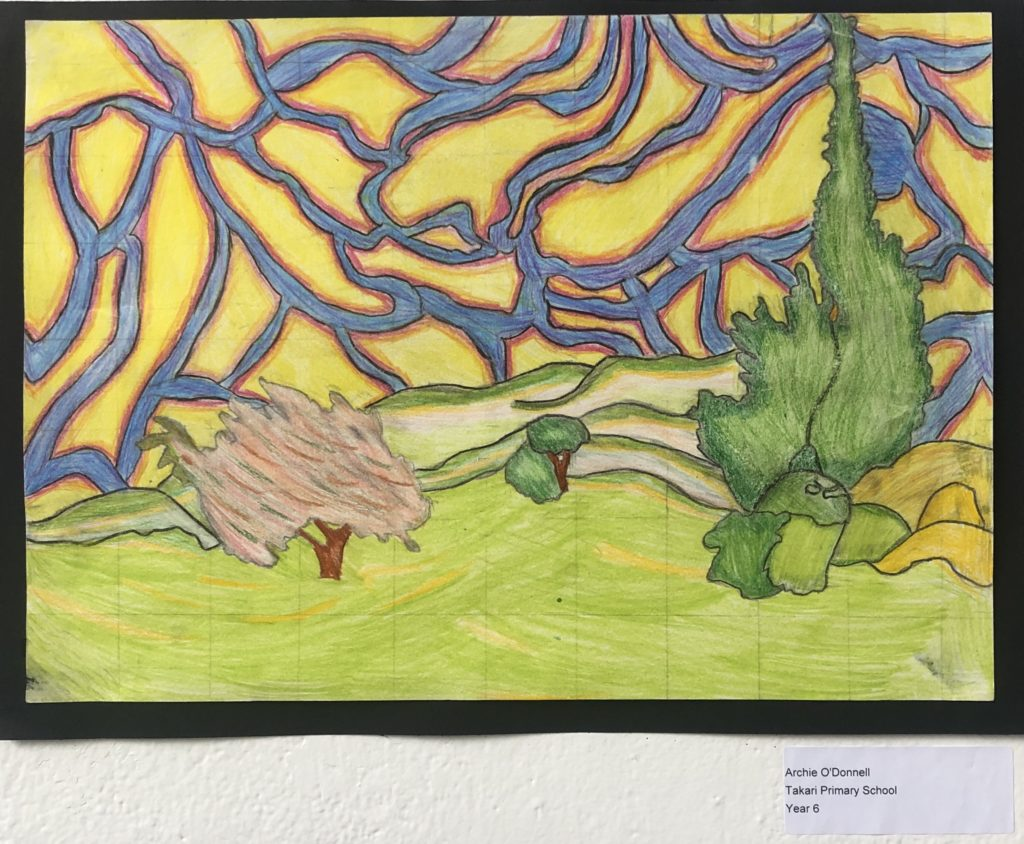 Artwork for Certificate of Commendation - Archie O'Donnell, Year 6 Takari PS