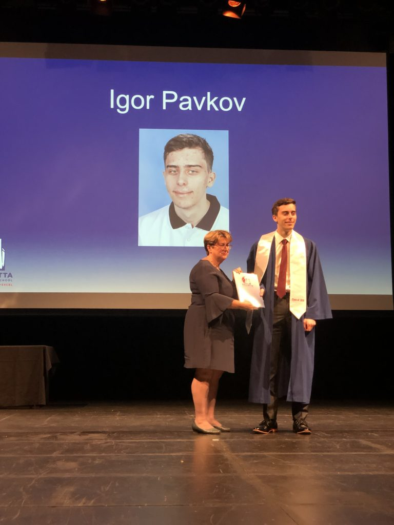 Igor Pavkov was the recipient of the ATAR Dux Award