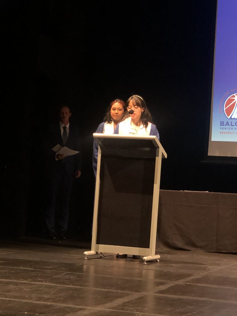 Valedictory Speech by Year 12 Representatives, Leann Ryle Abastillas and Neeyanta Nakarmi
