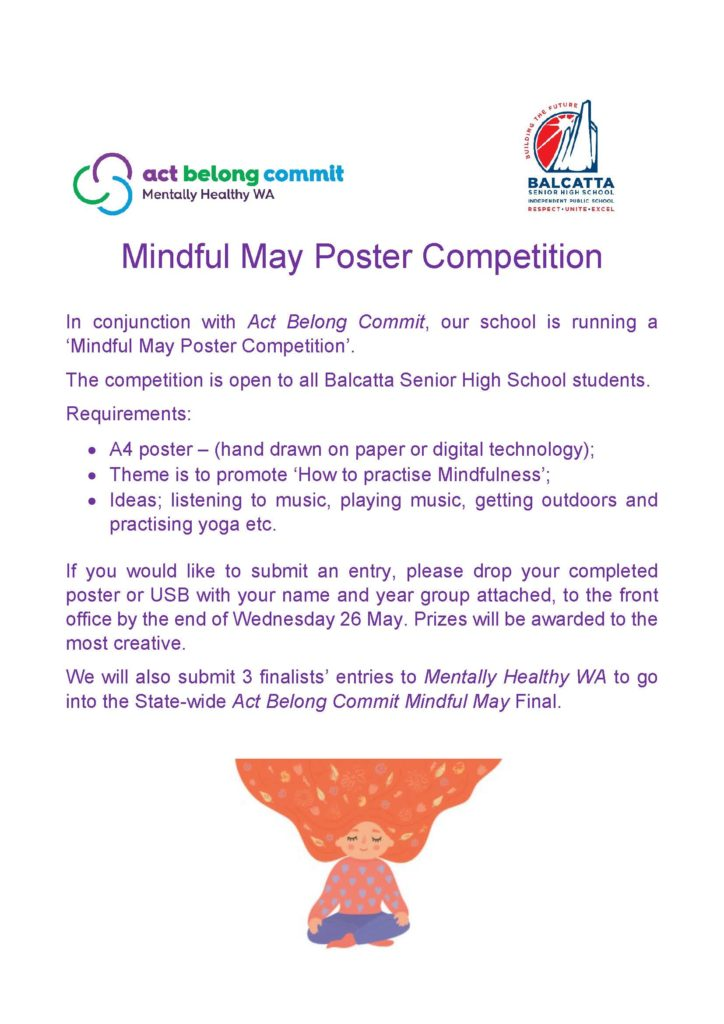 Mindful May Poster Competition